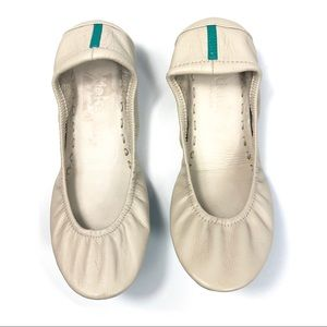 Tieks Leather Ballet Flats Cream Sz 7